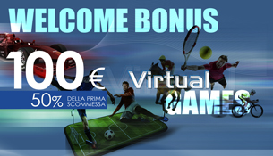 WELCOME BONUS VIRTUAL GAMES