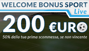 WELCOME BONUS SPORT LIVE